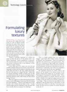 Cosmetics - Technology column